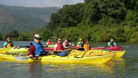 kayaking with Riverkeeper