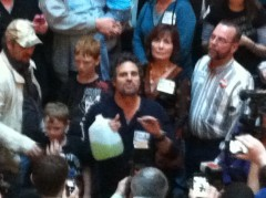 Mark Ruffalo at the New Yorkers Against Fracking Rally