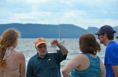 Tom Lake leading the seining at the Ossining waterfront. Photo: Jay Wright