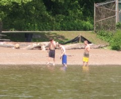 Swimmers at Verplanck Point 5-31-13