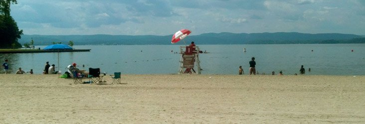 Hudson River swimming area