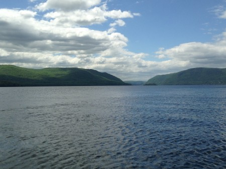 View of the Hudson Highlands from the water in Newburgh.