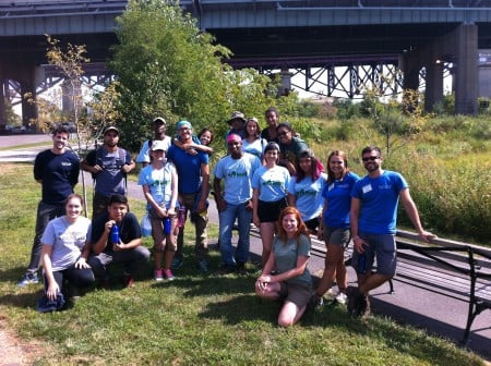 The wonderful LEAF Alumni from the Nature Conservancy. Some students traveled 2 hours to volunteer.