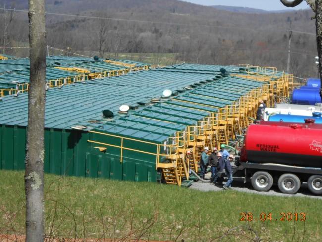 Fracking waste site