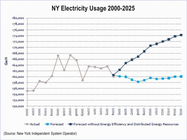 NY Electricity Usage Projections through 2025-1