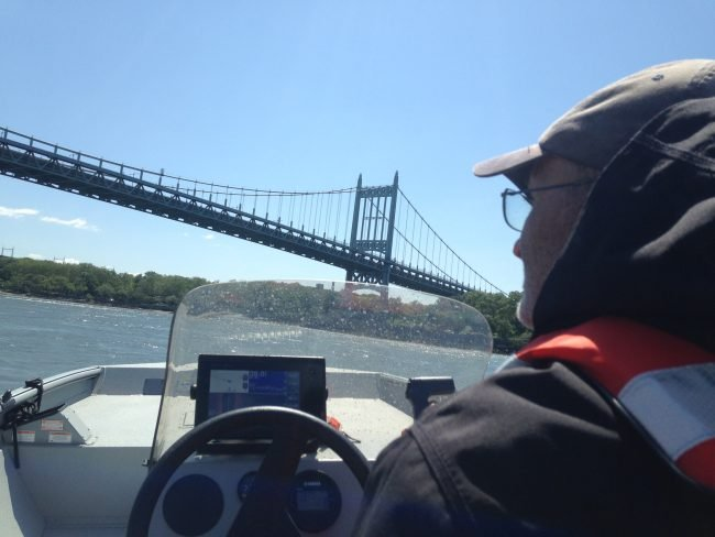 Entering the East River. (Photo by Dan Shapley / Riverkeeper)