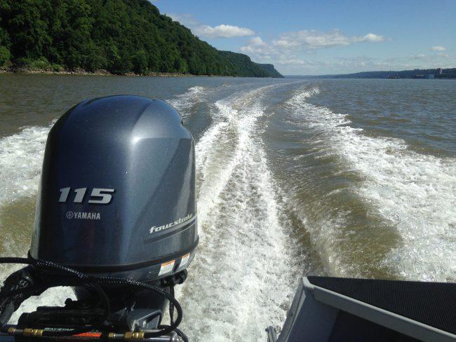 Hudson River wake. (Photo by Dan Shapley / Riverkeeper)