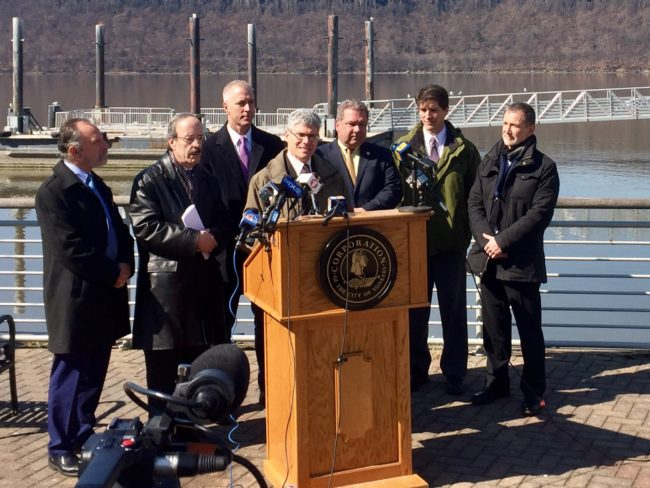 Paul Gallay speaking in support of the Hudson River Protection Act