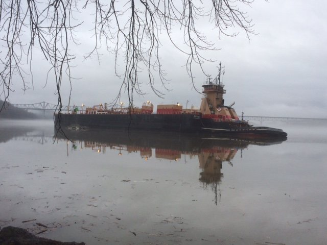 Barge aground - another warning
