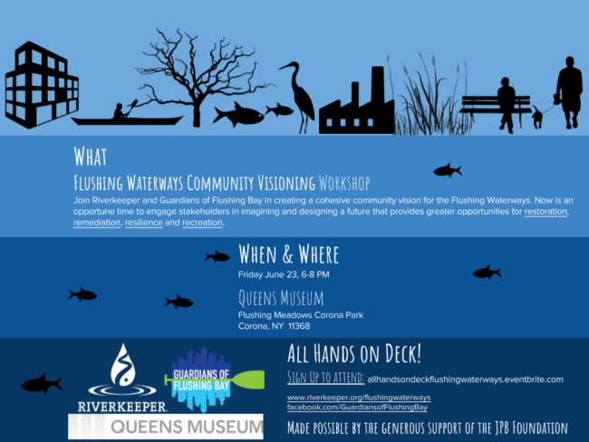 Flushing Waterways Community Visioning Workshop Flyer