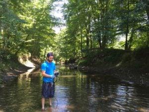 Sebastian in Rutgers Creek