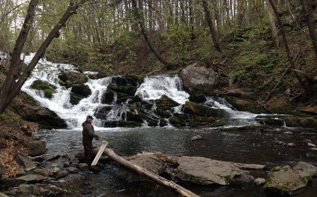 Bob Schmidt fishes-Saw Kill-April 2016-Photo-DanShapley-Riverkeeper_6752