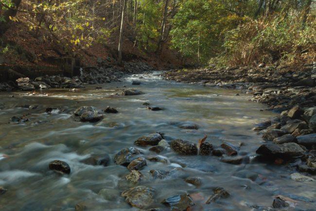 Victory: Quassaick Creek, after the removal of Strooks Felt Dam