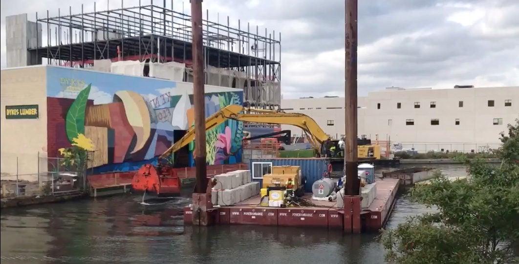 Gowanus Canal dredging 2017